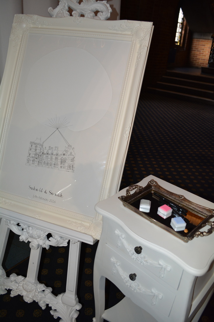 Finger print guestbook Nerissa Eve Weddings