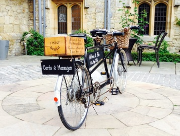 Nerissa Eve Weddings Tandem Bike Hire