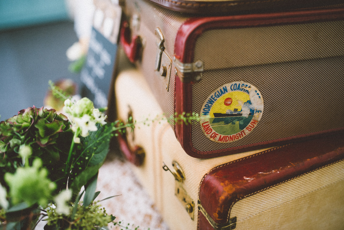 Nerissa Eve Weddings Vintage suitcases