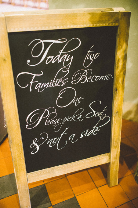Chalk board artist weddings