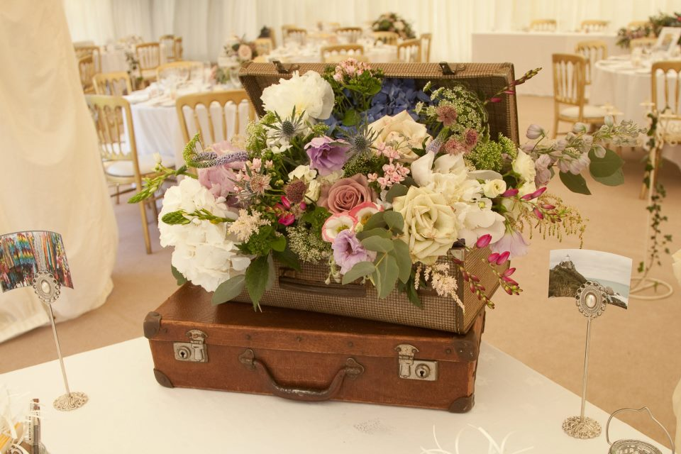Vintage suitcase hire - Nerissa Eve Weddings