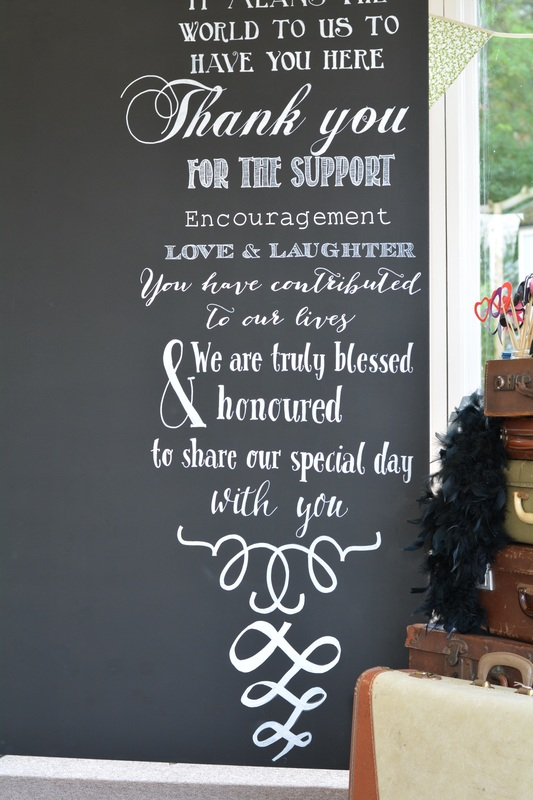 Chalk board wedding