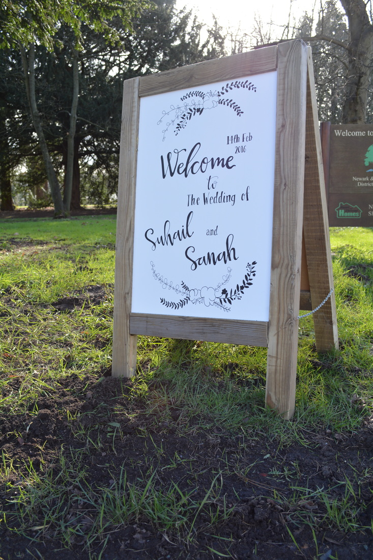 Welcome board Nerissa Eve Weddings