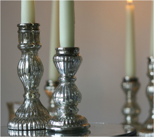 Mercury candle stick holder