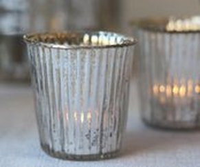 Mercury tea light holder or votive