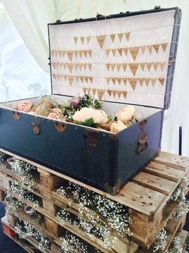 Nerissa Eve Weddings vintage suitcase hire
