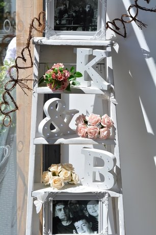 Nerissa Eve Weddings vintage stepladder