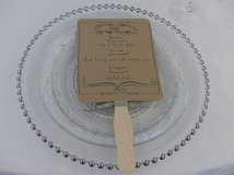 Glass beaded plate charger