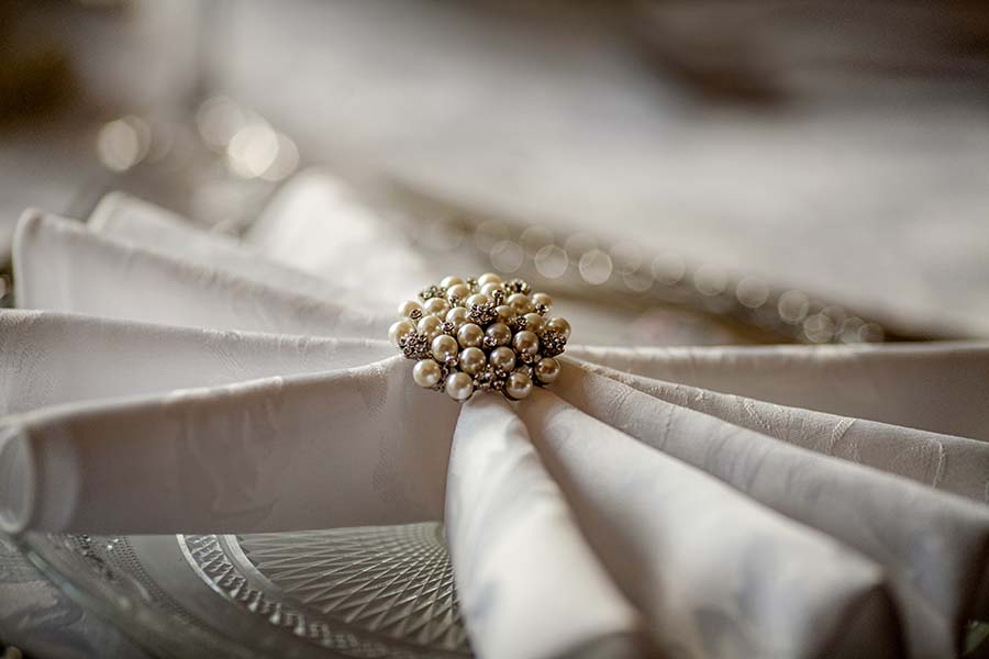 Napkin brooch hire