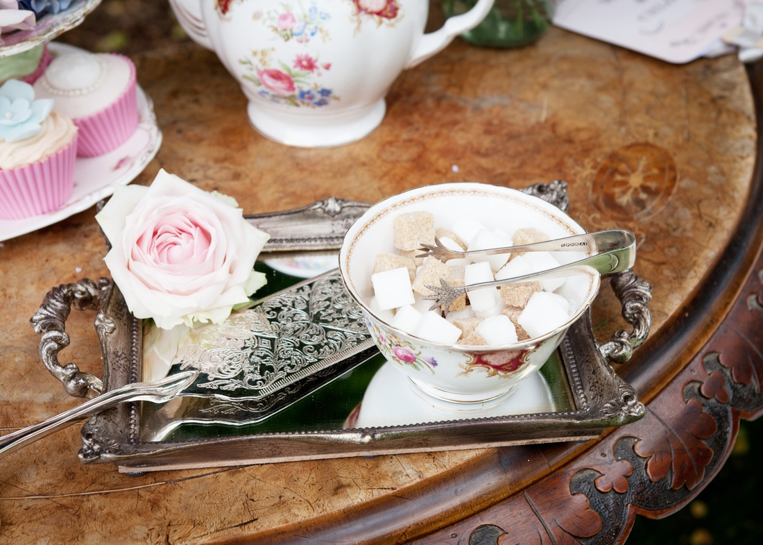 Nerissa Eve Weddings Vintage crockery hire