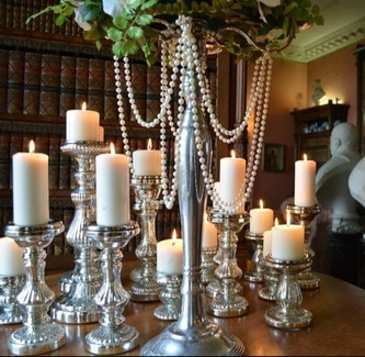 Mercury candle holders hire
